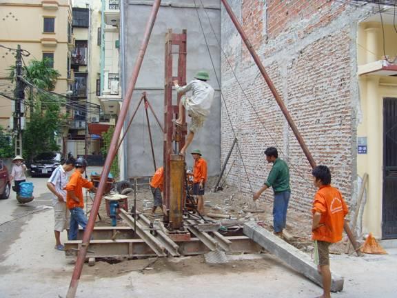 Phương pháp thi công ép cọc cho công trình nhà dân